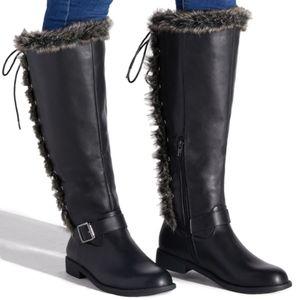 Elize WC Black Faux Fur Boots